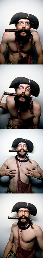 Pirate Kai at Flipside Photo Booth